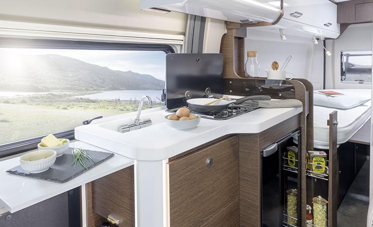 Karmann Davis 600 kuchyně