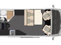 Karmann Dexter 550 denní půdorys
