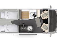 Karmann Dexter 570 4x4 půdorys