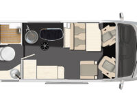 Karmann Dexter 595 denní půdorys